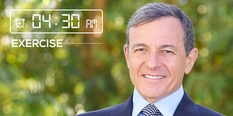 bob iger morning schedule