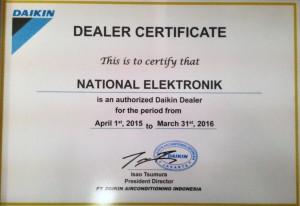 dealer certificate daikin 2015