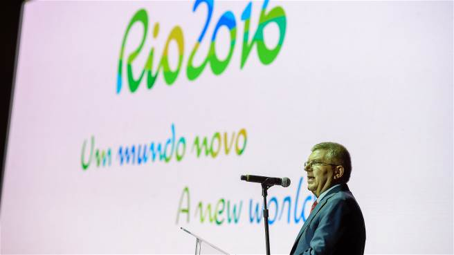 IOC president Thomas Bach hoped the Olympic slogan would be a message to engage future generations - and his wish was granted. This is the Rio 2016 slogan.