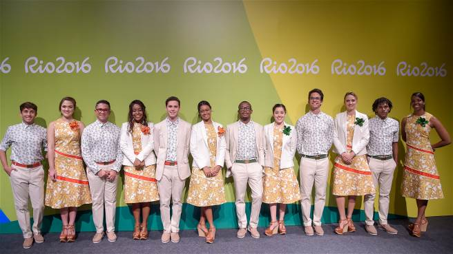 During the presentation, the uniforms for the medal presenters were unveiled.