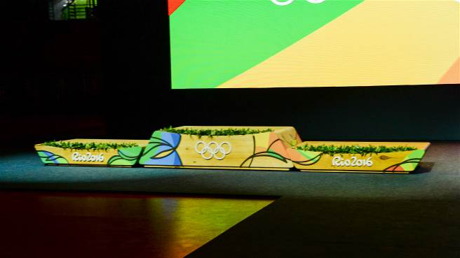 The podium for the Rio 2016 Games was also unveiled this Tuesday (15 June).