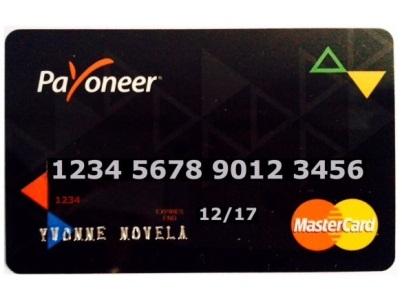 Tarieta Payoneer Mastercard