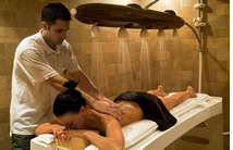 Massage treatment in Royal Spa in Corinthia Grand Hotel Budapest Hungary