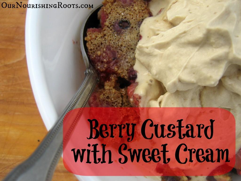berry custard sweet cream