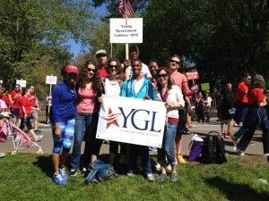 The YGL NYC team getting ready to walk!