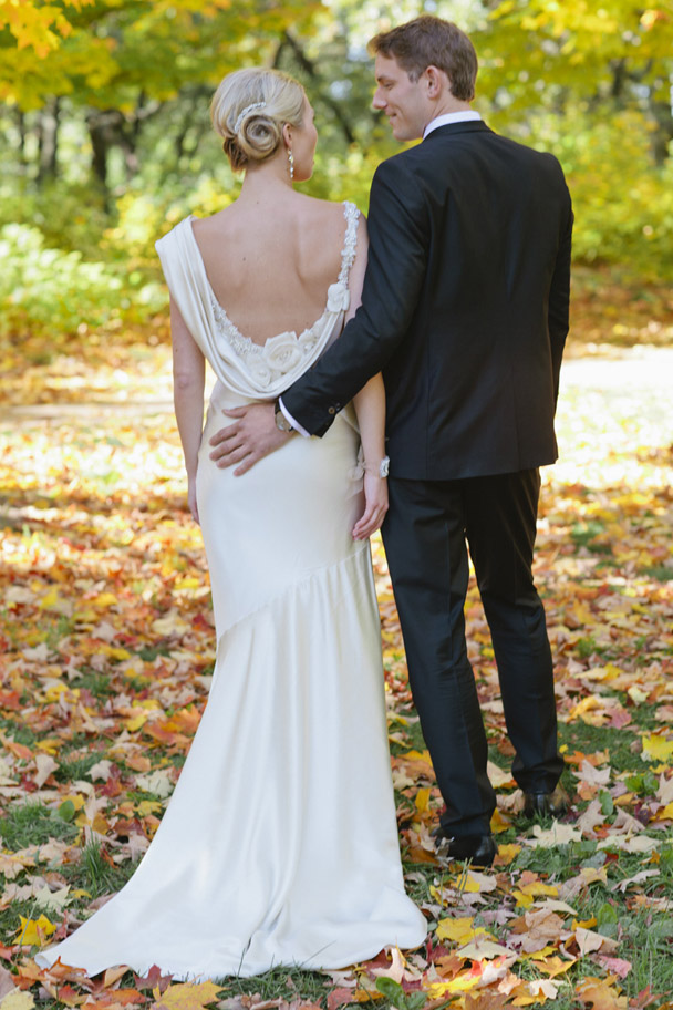 low back grecian gown wedding toronto