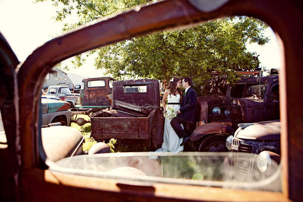 Luxurious Mexico Inspired Style Shoot - 10 old car vintage junkyard wedding photos alberta