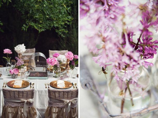 pink gold vintage wedding photoshoot (5)
