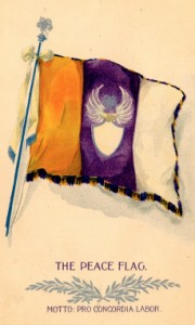 Cover of official pamphlet for the  Universal Peace Banner. Visit www.proconcordialabor.com for more  information