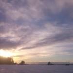 Закат зимой