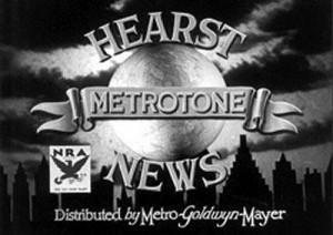 classic movie history project Hearst Metrotone News logo