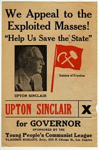 Fake Sinclair poster, sliming him as a Communist
