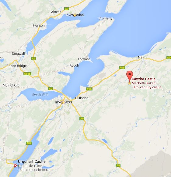 invergordon-inverness-map