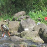 On the way to the falls, we saw a local woman doing her laundry in a creek.