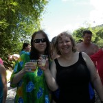 Julie and Beth--and non-frozen fruit rum things