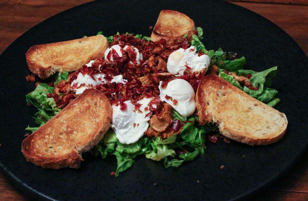 Warm Chanterelle Salad w Speck-23842