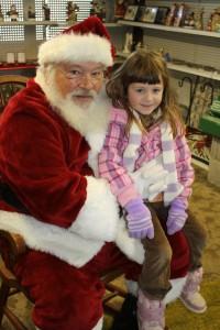Santa and cute girl