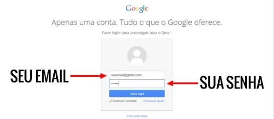 gmail login entrar