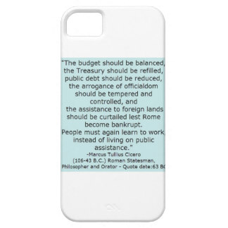 Cicero Quote from 63 BC Packs More Punch Today iPhone SE/5/5s Case
