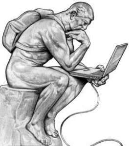 The Thinker with Laptop