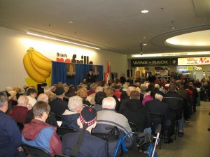 Part of the crowd attending Northland Mall's Indoor Remembrance Day Service