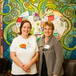 YMCA's Community Developer Arden McClean and Director-Educational Services Jo-elle Rinker
