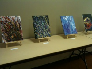 School of Colour Exhibits on display during the Official Opening of Beacock Library's Reading Gardens