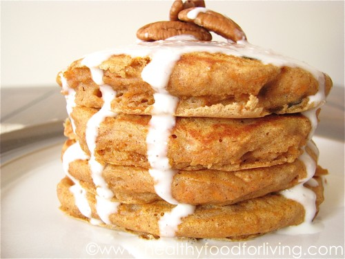 Carrot Cake Pancakes for One