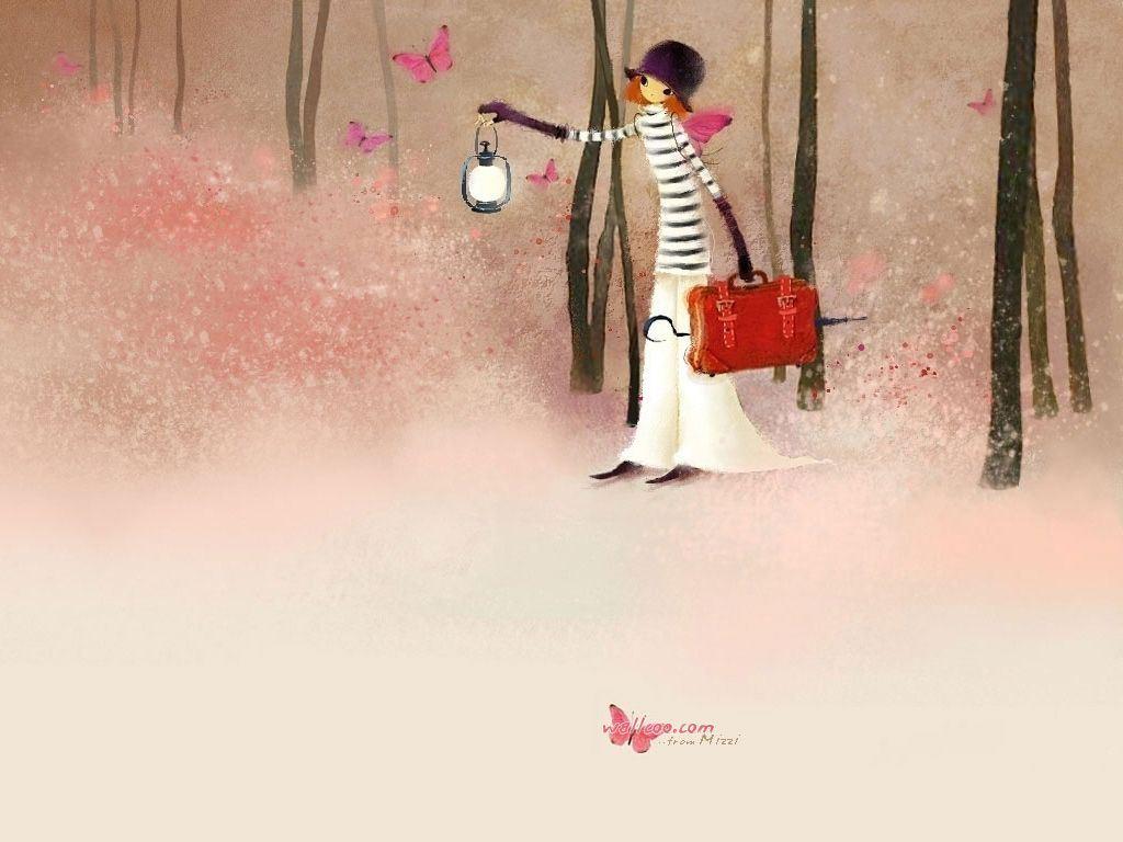 时尚卡通女孩 颁奖典礼背景图片