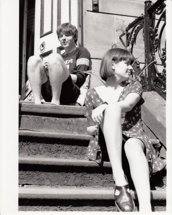 me and ciara hang on her steps, around summer of '93. pick by our pal michael