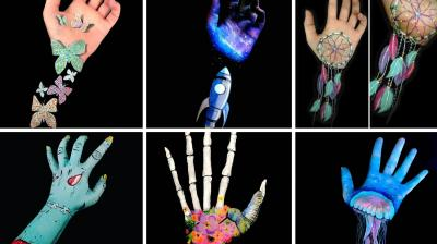 Lisha, a 21-year-old aspiring body artist, decided to experiment with illusion and 3D body art after attending a beginners' face-painting course. She has now become so good at her work that she can turn her arms into mind-boggling optical illusions by using paint.