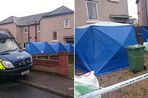 Police operational support and forensics outside a home in Thornton, Lancashire where police are clearing a garden following reports of a buried body at the address