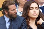 Bradley Cooper and Irina Shayk in the royal box on centre court during the men's singles final match on the last day of the 2016 Wimbledon Championships