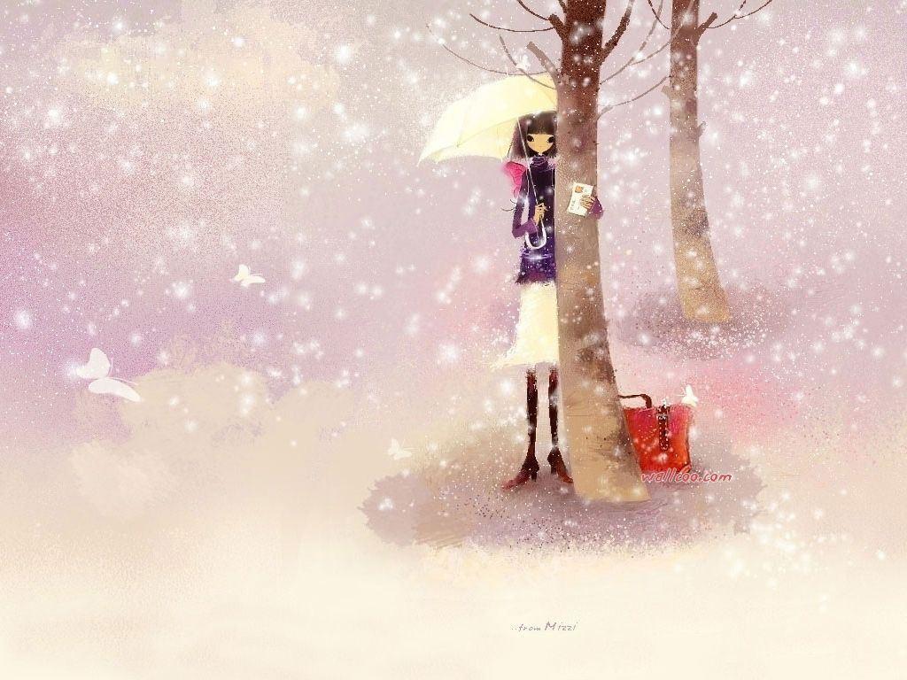 唯美、浪漫树下的女孩 课件背景图片大全