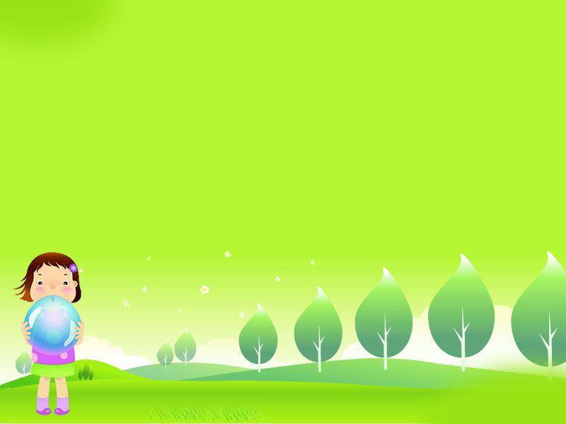 绿色儿童卡通 复古背景图片