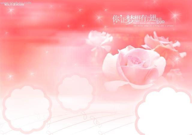 玫瑰粉色PPT素材  动态背景图片