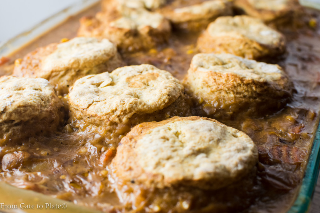 Beef Pot Pie with Herbed Biscuits -- From Gate to Plate #SundaySupper