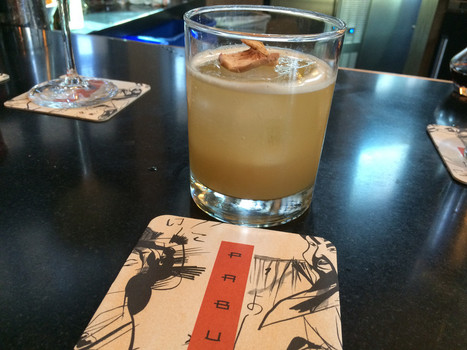Sampling one of the signature cocktails