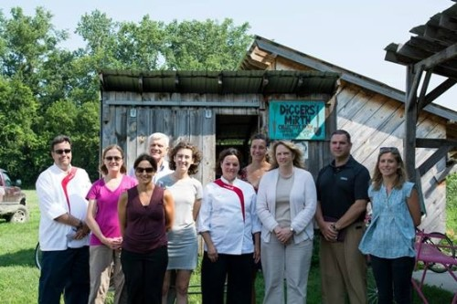Sodexo employees visit Intervale Center farms and tour the Intervale Food Hub