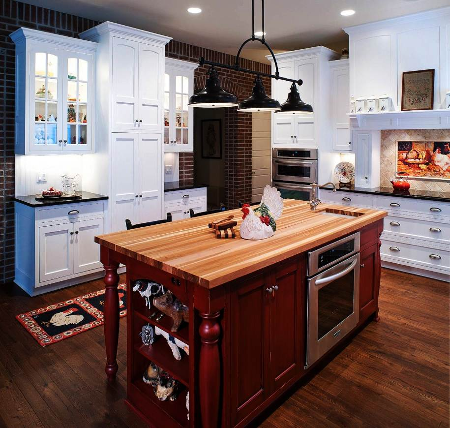 Image of: Butcher Block Island Table