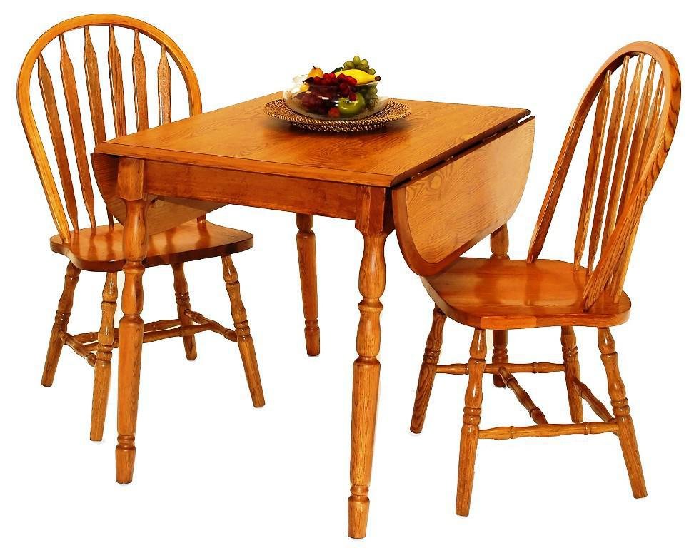 Image of: Oak Drop Leaf Kitchen Table