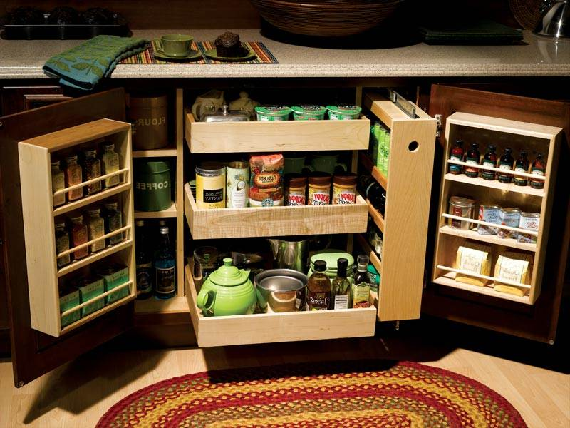 Image of: Kitchen Cabinet Organizers