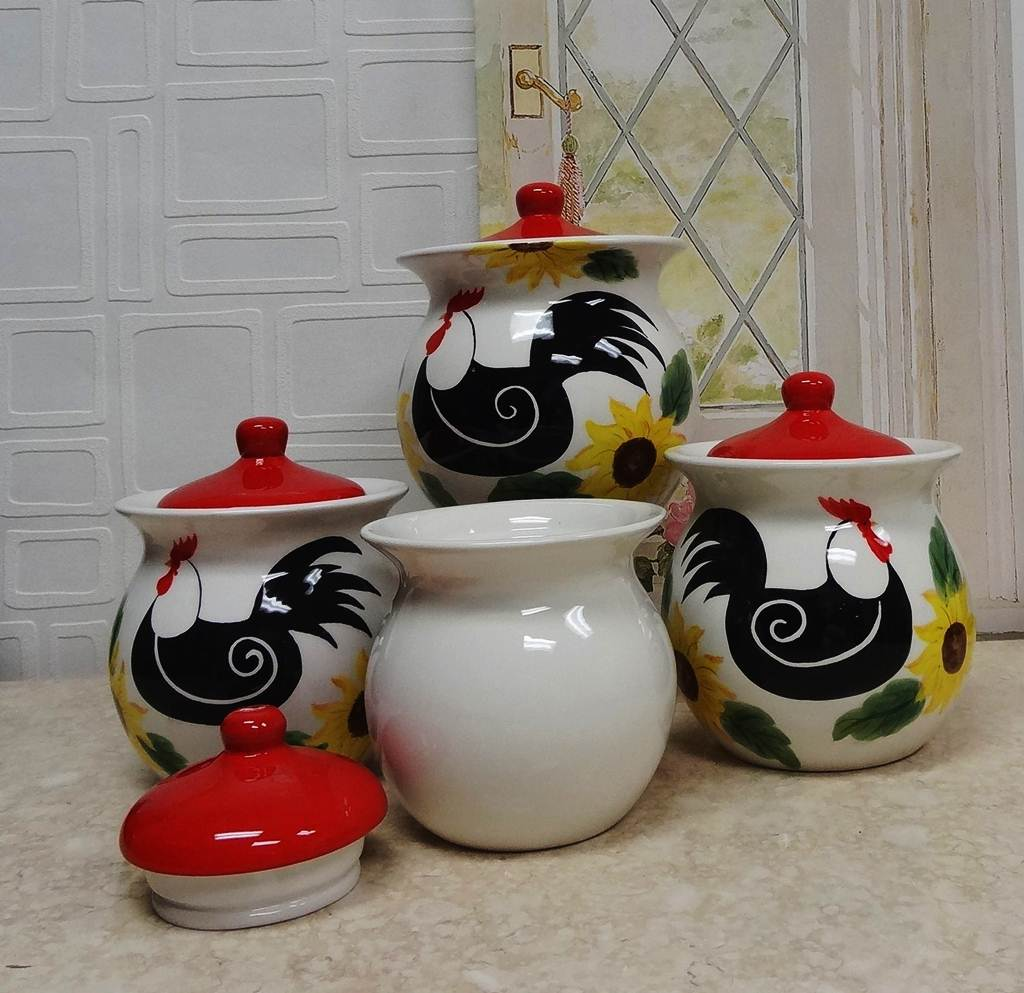 Image of: Kitchen Canister Sets Ceramic