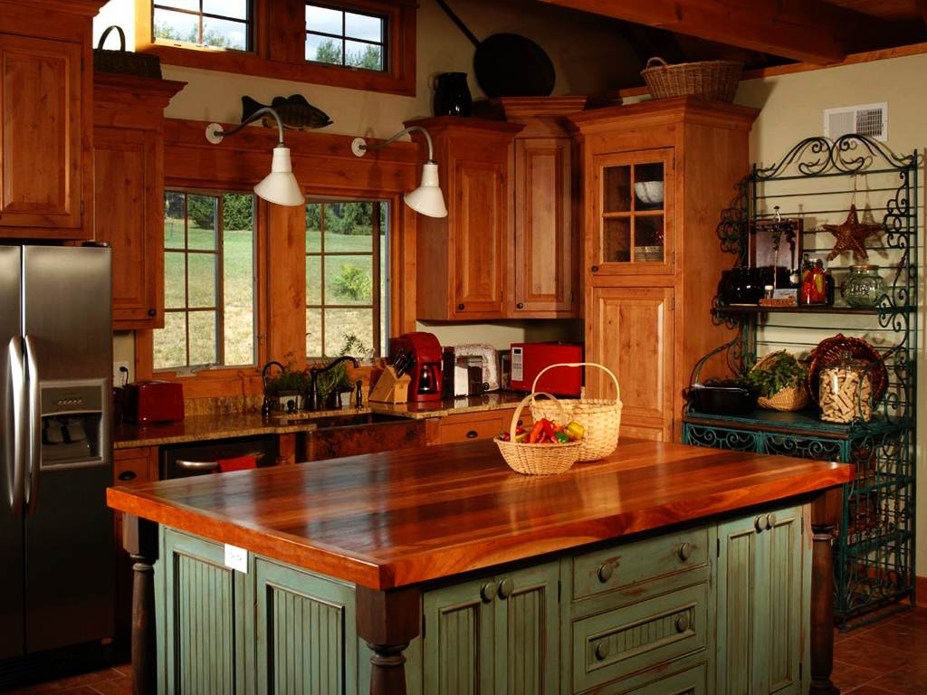 Image of: Butcher Block Island