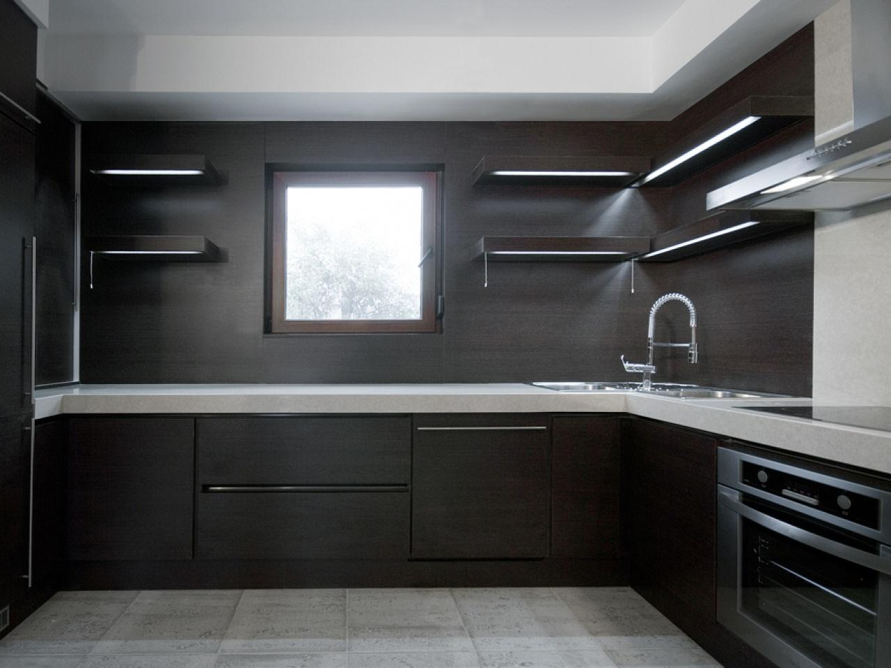 Image of: Black Kitchen Base Cabinets