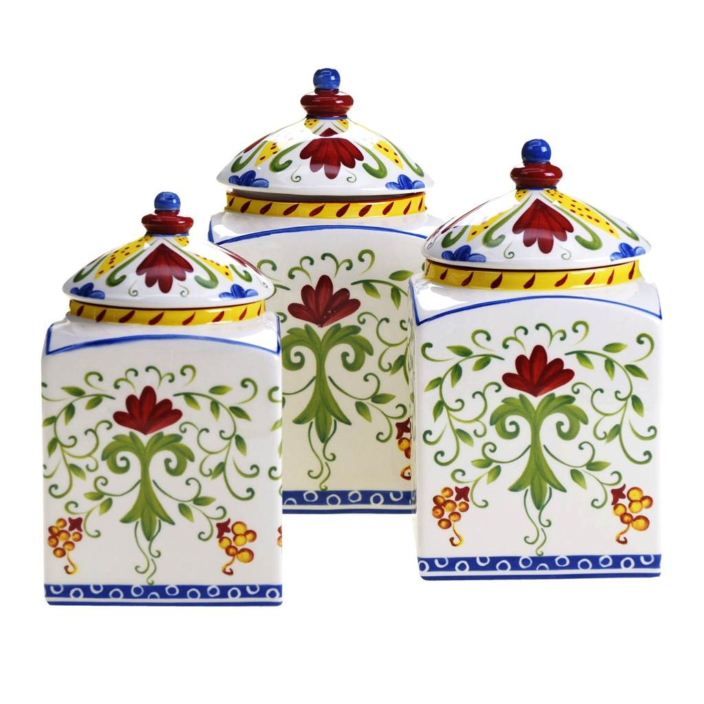 Image of: Kitchen Canisters Ceramic Sets