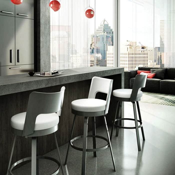 Image of: Kitchen Counter Stools with Backs
