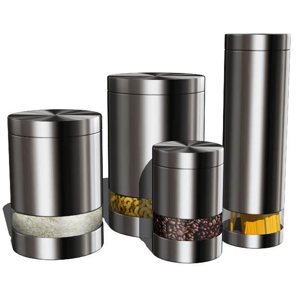 Image of: Stainless Kitchen Canister Sets
