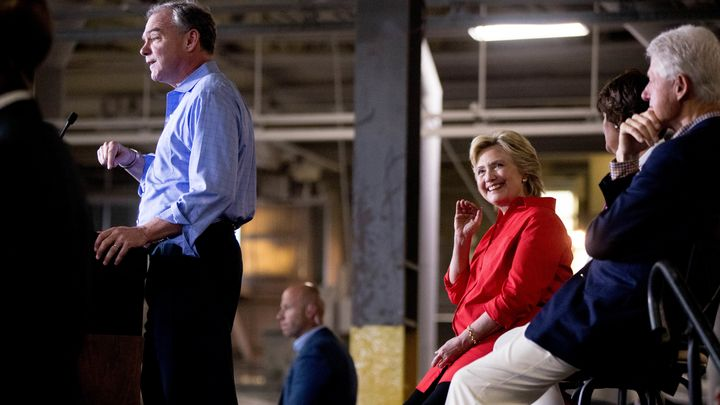 Hillary Clinton and her husband, former president Bill