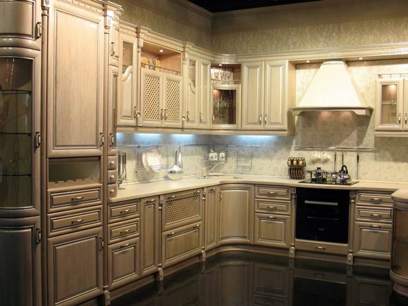 Image of: Distressed Kitchen Cabinets Pictures